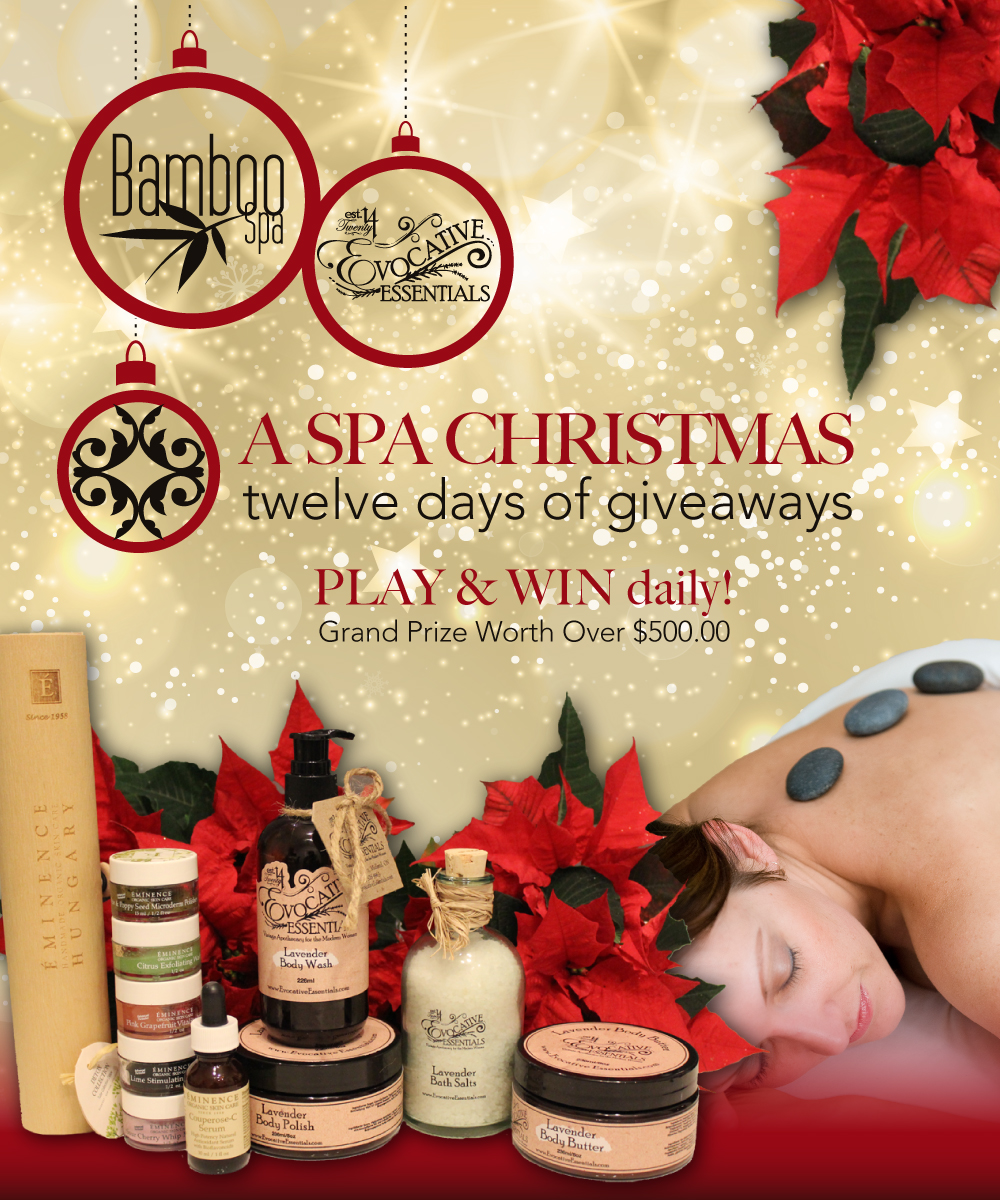 A SPA CHRISTMAS twelve days of giveaways | Bamboo Spa - Midland ...